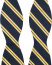 Amanda Christensen Stripe Self Tie Silk Navy/Yellow
