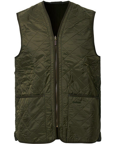 Barbour Lifestyle Quilt Waistcoat / Zip-In Liner Olive men XXL/UK48-50 Grøn