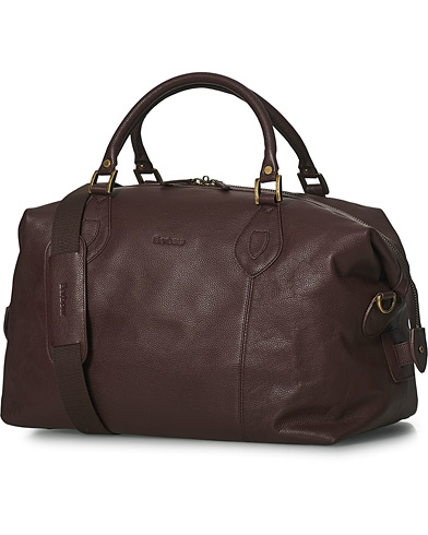 Barbour Lifestyle Leather Medium Travel Explorer Brown i gruppen Tilbehør / Tasker / Weekendtasker hos Care of Carl (10050310)