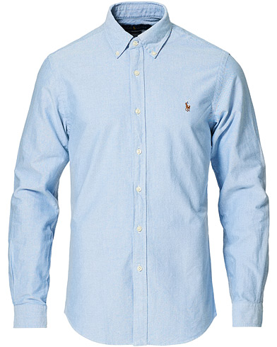 Polo Ralph Lauren Slim Fit Shirt Oxford Blue i gruppen Tøj / Skjorter / Casual / Oxfordskjorter hos Care of Carl (10287911r)