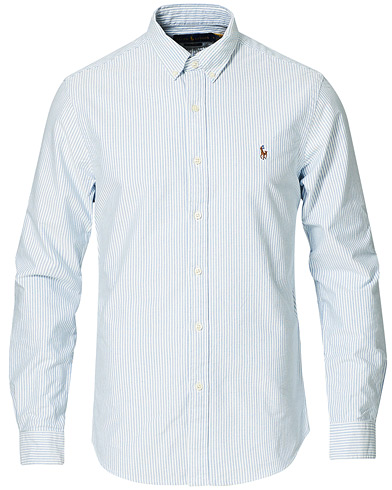 Polo Ralph Lauren Slim Fit Shirt Oxford Stripes Blue i gruppen Tøj / Skjorter / Casual / Oxfordskjorter hos Care of Carl (10288011r)