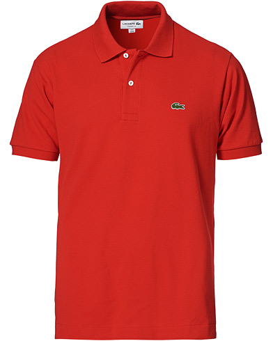 Lacoste Original Polo Piké Red i gruppen Tøj / Polotrøjer hos Care of Carl (10298711r)