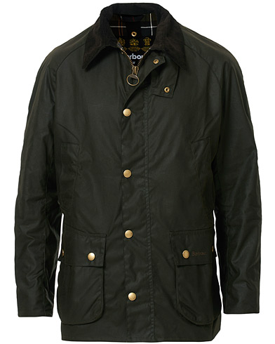 Barbour Lifestyle Ashby Wax Jacket Olive i gruppen Tøj / Jakker / Oilskinsjakker hos Care of Carl (10457611r)