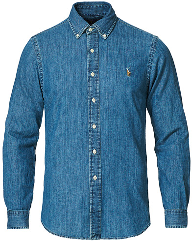 Polo Ralph Lauren Slim Fit Shirt Denim Dark Wash i gruppen Tøj / Skjorter / Casual / Denimskjorter hos Care of Carl (10494411r)