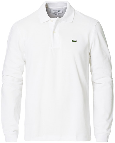 Lacoste Long Sleeve Polo White i gruppen Tøj / Polotrøjer hos Care of Carl (10513911r)