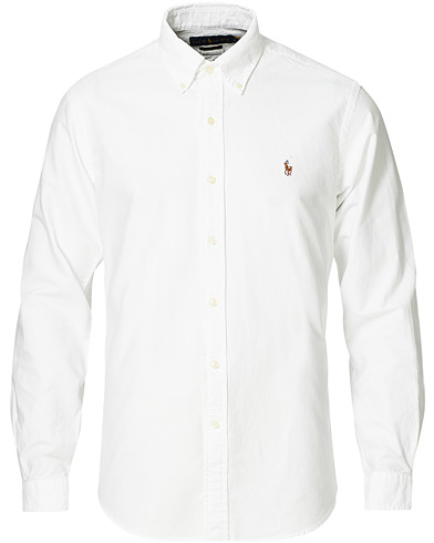 Polo Ralph Lauren Custom Fit Shirt Oxford White i gruppen Inspiration / Tidløse klassikere / Buttondown-skjorter hos Care of Carl (10797111r)