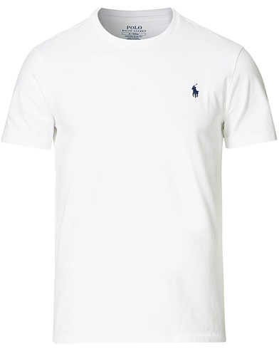 Polo Ralph Lauren Custom Slim Fit Tee White i gruppen Tøj / T-Shirts / Kortærmede t-shirts hos Care of Carl (11107911r)