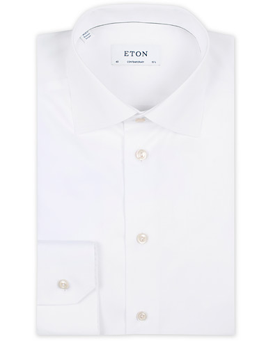 Eton Contemporary Fit Shirt White i gruppen Tøj / Skjorter / Formelle / Businessskjorter hos Care of Carl (11271411r)
