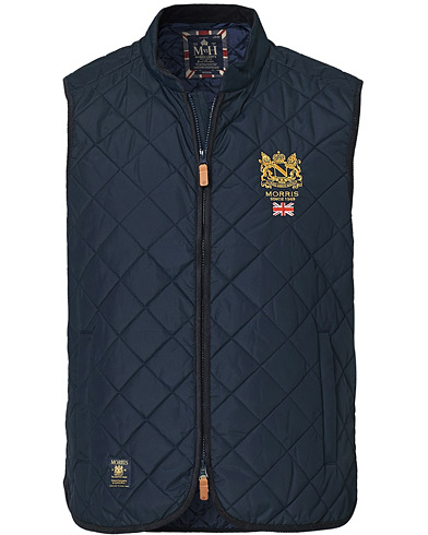 Morris Trenton Quilted Vest Old Blue i gruppen Tøj / Veste hos Care of Carl (11304911r)