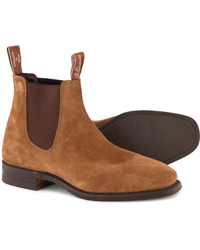 R.M.Williams Blaxland G Boot Suede Mid Brown i gruppen Sko / Støvler hos Care of Carl (11583111r)