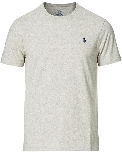 Polo Ralph Lauren Custom Slim Fit Tee New Grey Heather i gruppen Tøj / T-Shirts hos Care of Carl (11766611r)