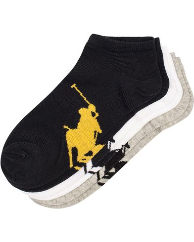 Polo Ralph Lauren 3-Pack Sneaker Socks Grey/Black/White  i gruppen Tøj / Undertøj / Strømper hos Care of Carl (11781210)