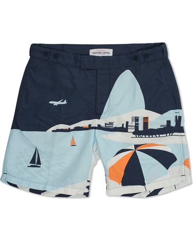 Frescobol Carioca Trunks Tailored Illustration Posto Blue i gruppen Tøj / Badebukser hos Care of Carl (11791111r)
