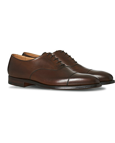 Crockett & Jones Hallam Oxford Dark Brown Calf i gruppen Sko / Oxfords hos Care of Carl (12049711r)