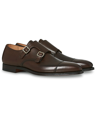 Crockett & Jones Lowndes Monkstrap Dark Brown Calf i gruppen Sko / Monk straps hos Care of Carl (12049911r)