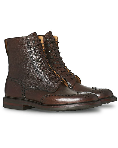 Crockett & Jones Islay Boot Dark Brown Grained Calf i gruppen Sko / Støvler / Snørestøvler hos Care of Carl (12050211r)