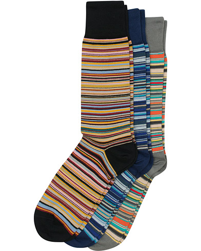 Paul Smith 3-Pack Classic Sock Multistripe i gruppen Tøj / Undertøj / Strømper hos Care of Carl (12208510)