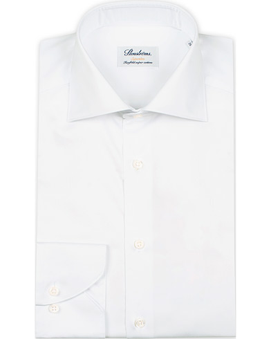 Stenströms Superslim Plain Shirt  White i gruppen Tøj / Skjorter / Formelle / Businessskjorter hos Care of Carl (12289711r)