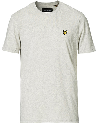 Lyle & Scott Crew Neck Tee Light Grey Marl i gruppen Tøj / T-Shirts / Kortærmede t-shirts hos Care of Carl (12470911r)