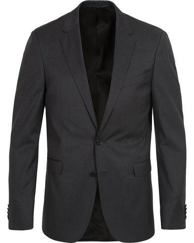 BOSS Ryan Slim Fit Wool Blazer Charcoal i gruppen Tøj / Blazere & jakker / Enkeltradede blazere hos Care of Carl (12743011r)