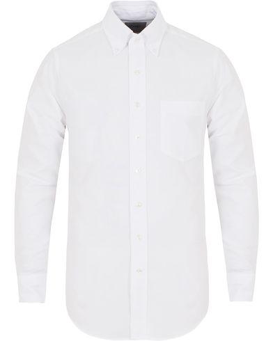 Drake's Slim Fit Oxford BD Shirt White