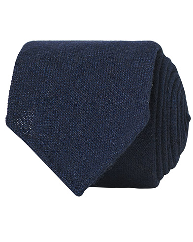 Drake's Cashmere 8 cm Tie Navy