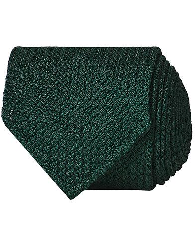 Drake's Silk Grenadine Handrolled 8 cm Tie Green