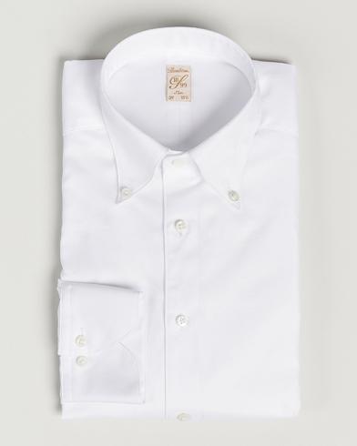 Stenströms 1899 Slimline Supima Cotton Structure Shirt White
