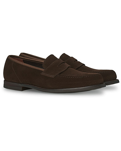 Crockett & Jones Harvard City Sole Dark Brown Suede