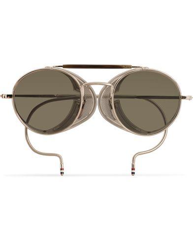 Thom Browne TB-001 Sunglasses Shiny Silver
