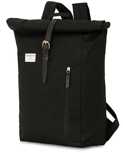 Sandqvist Dante Roll Top Backpack Black  i gruppen Tilbehør / Tasker / Rygsække hos Care of Carl (14324810)