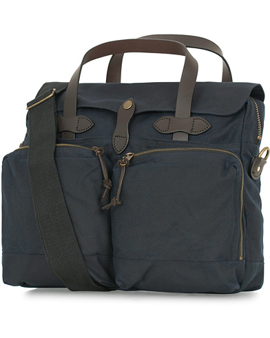 Filson 24-Hour Tin Briefcase Navy Canvas  i gruppen Tilbehør / Tasker / Computertasker hos Care of Carl (14339610)