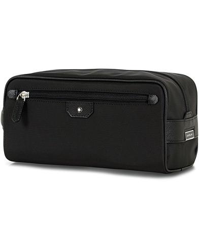 Billede af Montblanc Sartorial Jet Leather Wash Bag Black