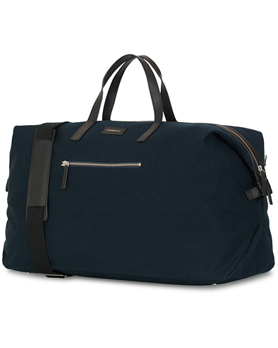 Sandqvist Damien Grand Organic Cotton Canvas Weekendbag Blue