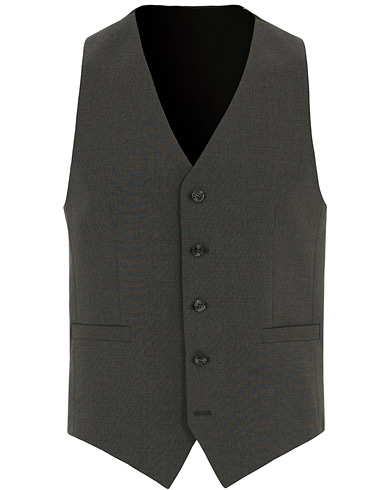 Tiger of Sweden Litt Wool Waistcoat Grey i gruppen Tøj / Blazere & jakker / Veste hos Care of Carl (14792711r)