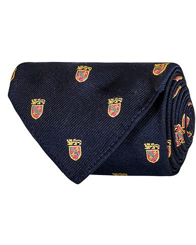 Polo Ralph Lauren Silk Lion Crest 8 cm Tie Navy