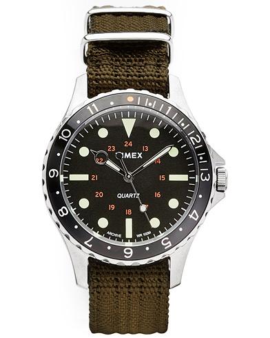 Timex Navi Harbor Steel/Black Dial men One size Grøn