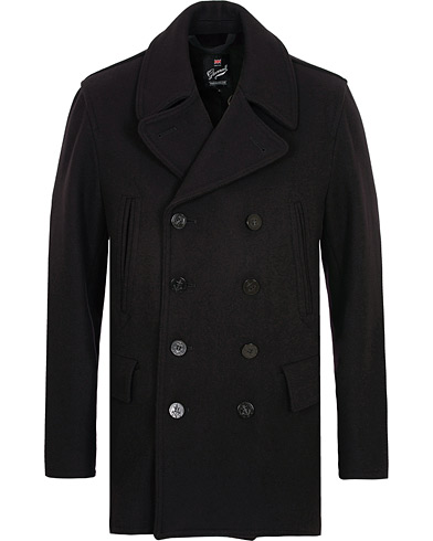 Gloverall Churchill Reefer Peacoat Navy