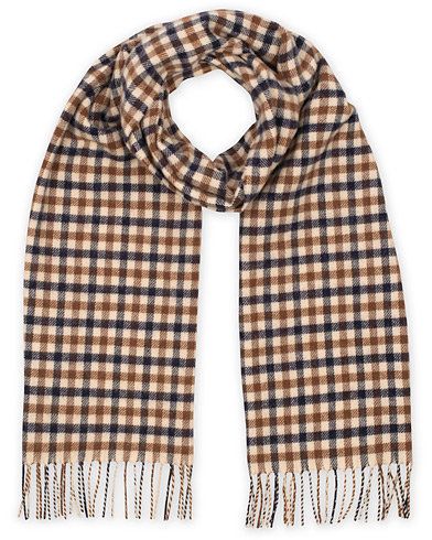 Aquascutum Lambswool Club Check Scarf Vicuna  i gruppen Tilbehør / Tørklæde hos Care of Carl (15108710)