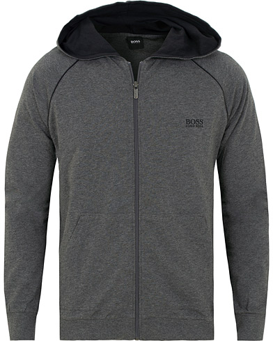 BOSS Full-Zip Logo Hoodie Medium Grey i gruppen Tøj / Trøjer / Hættetrøjer hos Care of Carl (15148211r)