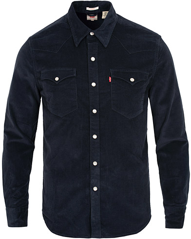 Levi's Barstow Western Corduroy Shirt Navy i gruppen Tøj / Skjorter / Casual / Casual skjorter hos Care of Carl (15224411r)