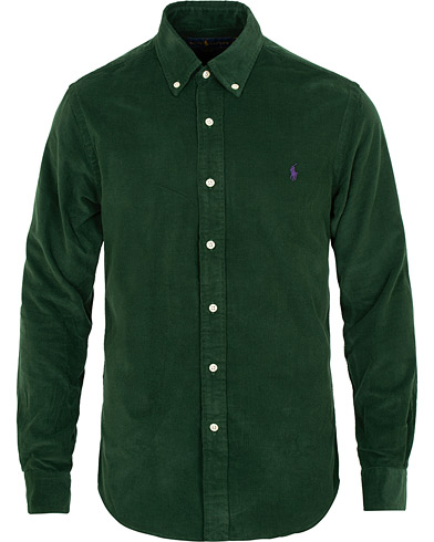 Polo Ralph Lauren Slim Fit Corduroy Shirt College Green i gruppen Tøj / Skjorter / Casual / Casual skjorter hos Care of Carl (15283211r)