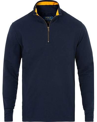 Polo Ralph Lauren Half Zip Sweater Cruise Navy i gruppen Tøj / Trøjer / Zip-trøjer hos Care of Carl (15293611r)