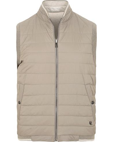 Ralph Lauren Purple Label Reversible Hybrid Vest Light Grey Melange