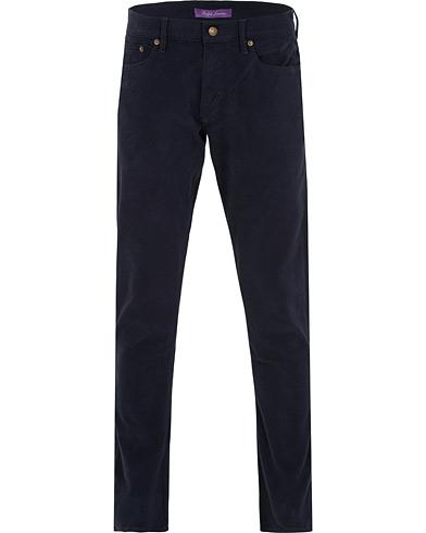 Ralph Lauren Purple Label Alston Stretch Moleskin 5-Pocket Pants Chairman Navy