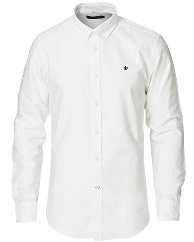 Morris Oxford Button Down Cotton Shirt White hos CareOfCarl.dk