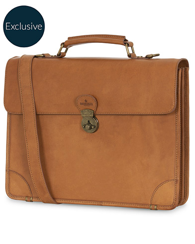 Morris Leather Briefcase Vacchetta Tan i gruppen Tilbehør / Tasker / Computertasker hos Care of Carl (15357210)