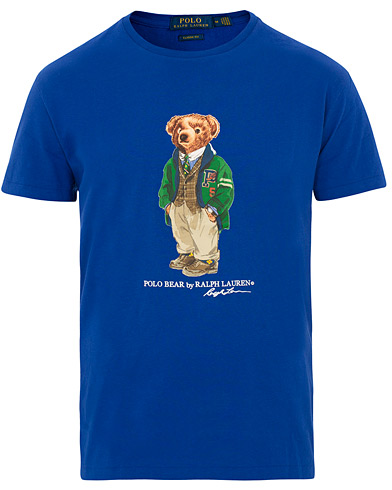 Polo Ralph Lauren Printed Bear Crew Neck Tee Cruise Royal i gruppen Tøj / T-Shirts / Kortærmede t-shirts hos Care of Carl (15423511r)