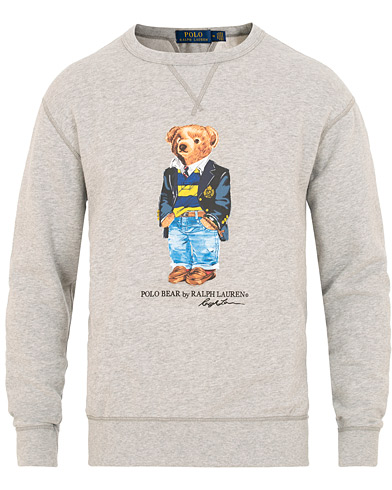 Polo Ralph Lauren Printed Bear Crew Neck Sweatshirt Andover Heather i gruppen Tøj / Trøjer / Sweatshirts hos Care of Carl (15423811r)