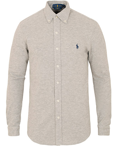 Polo Ralph Lauren Slim Fit Featherweight Shirt Andover Heather i gruppen Tøj / Skjorter / Casual / Poloskjorter hos Care of Carl (15427511r)